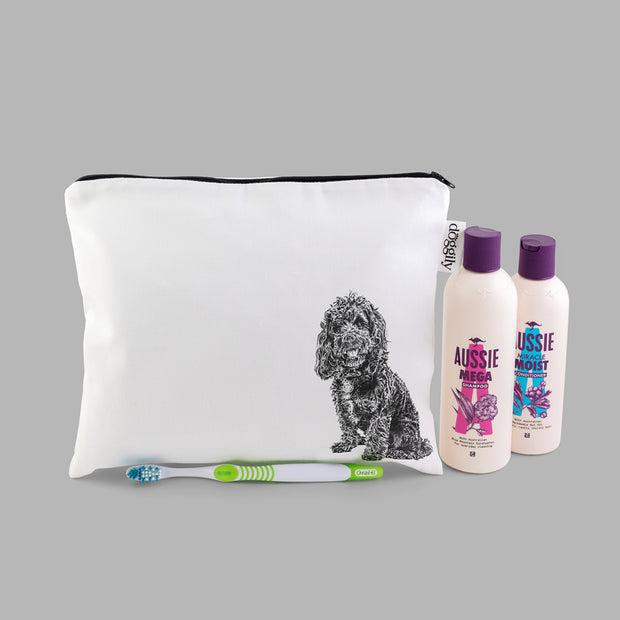COCKAPOO - WASH BAG WITH ZIP - doggily