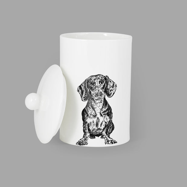 DACHSHUND - TREAT / STORAGE JAR (900ml/18cm HIGH) - doggily