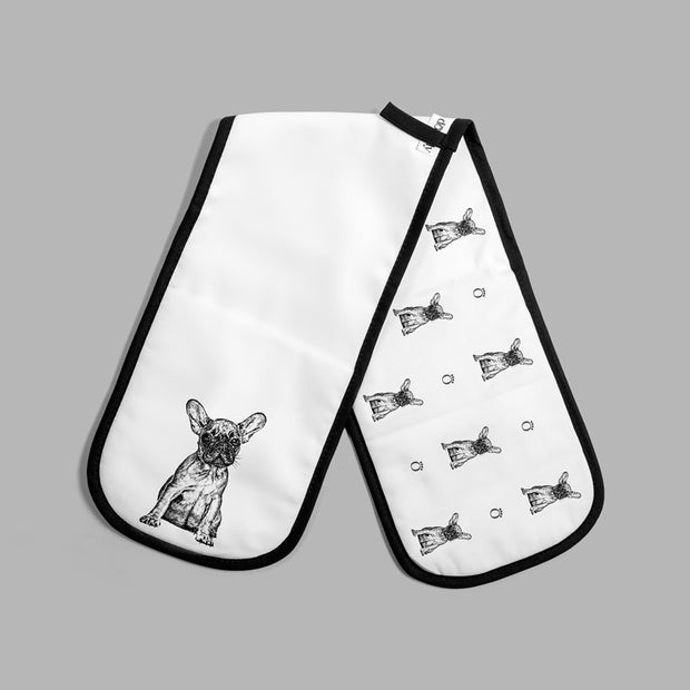 FRENCH BULLDOG - DOUBLE OVEN GLOVES