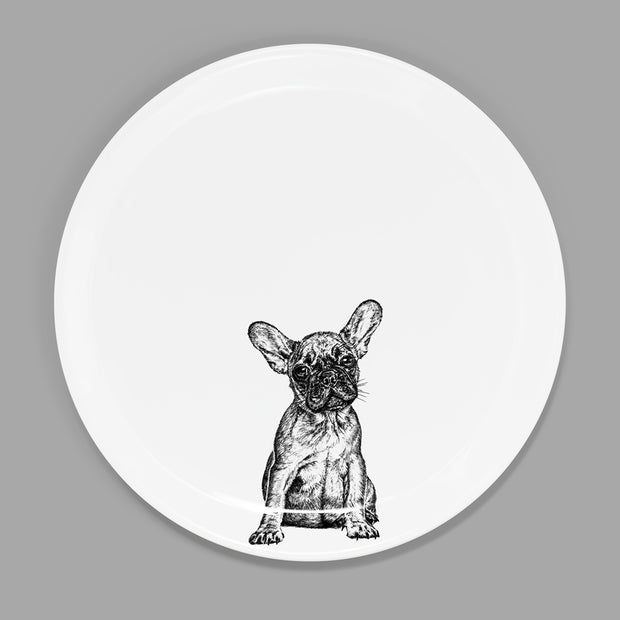 FRENCH BULLDOG - STARTER PLATE  (26.5cm DIAMETER) - doggily