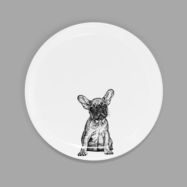 FRENCH BULLDOG - SIDE PLATE  (21cm DIAMETER) - doggily