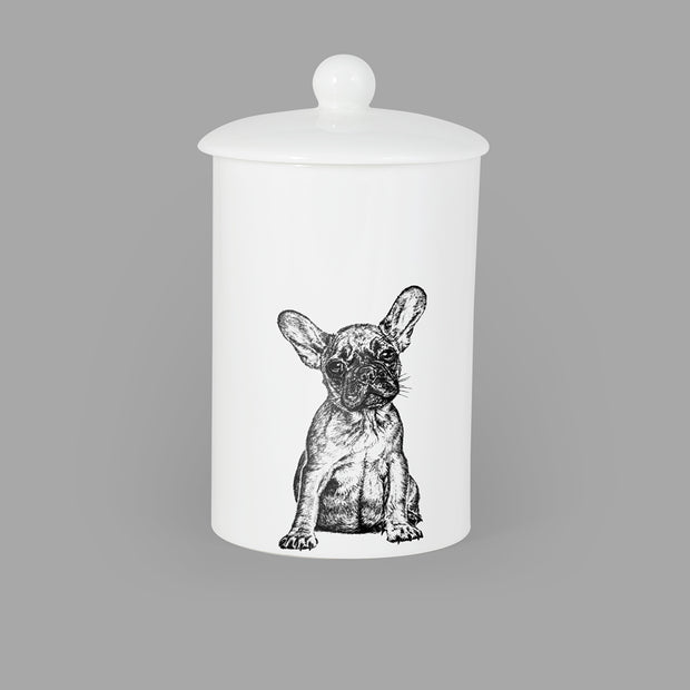 FRENCH BULLDOG - TREAT / STORAGE JAR (900ml/18cm HIGH) - doggily