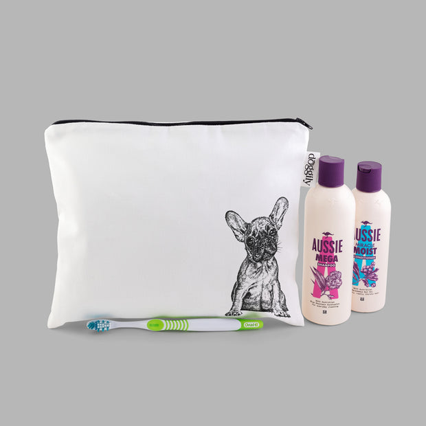 FRENCH BULLDOG - WASH BAG WITH ZIP - doggily