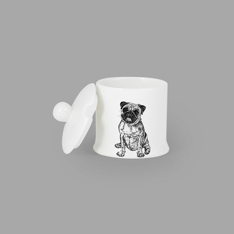 PUG - CONDIMENT JAR (150ml/9cm HIGH) - doggily