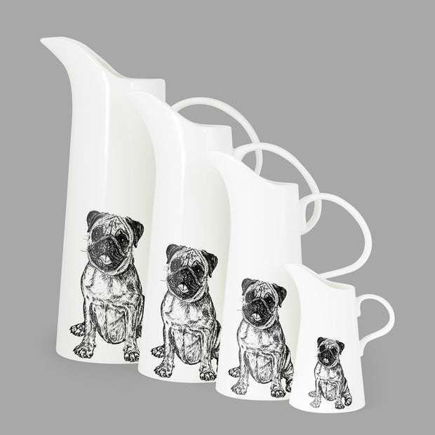 PUG - LARGE JUG (25cm HIGH) - doggily