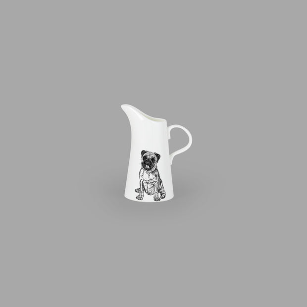 PUG - SMALL JUG (11cm HIGH) - doggily