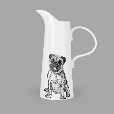 PUG - X LARGE JUG (30cm HIGH) - doggily