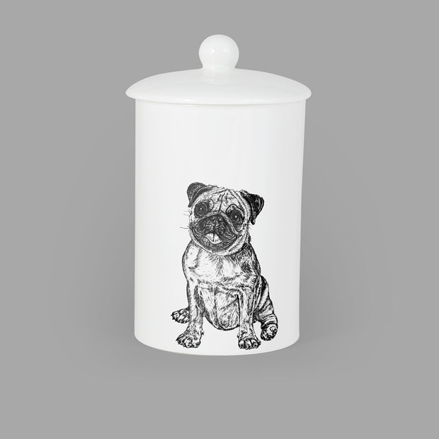 PUG - TREAT / STORAGE JAR (900ml/18cm HIGH) - doggily