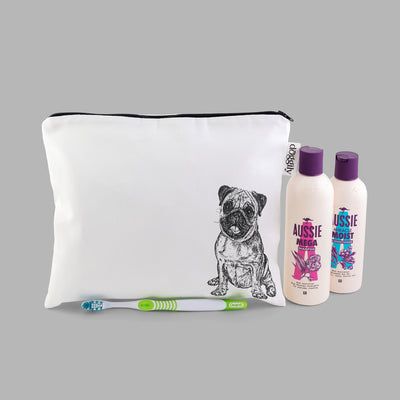 PUG - WASH BAG WITH ZIP - doggily