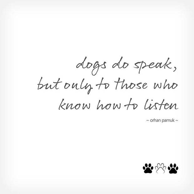 """DOGS DO SPEAK..."" BOX-FRAMED PRINT - doggily"