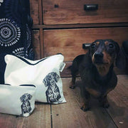 DACHSHUND - WASH BAG WITH ZIP - doggily