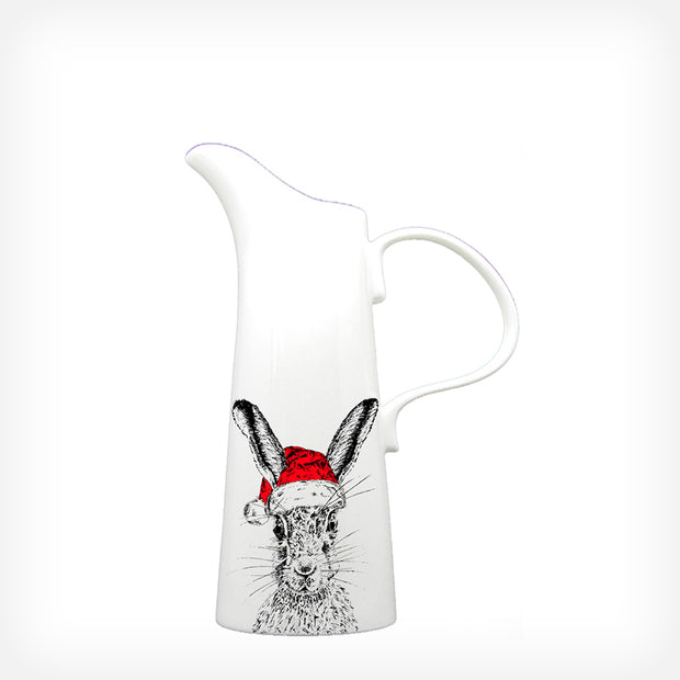 CHRISTMAS SASSY HARE - LARGE JUG (25cm HIGH) - doggily