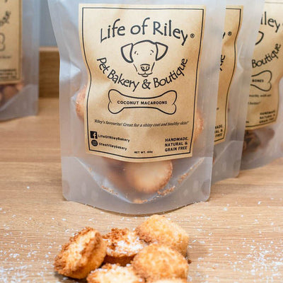 COCONUT MACAROONS from LIFE OF RILEY - 100g - doggily