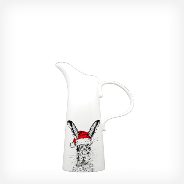 CHRISTMAS SASSY HARE - MEDIUM JUG (20cm HIGH) - doggily