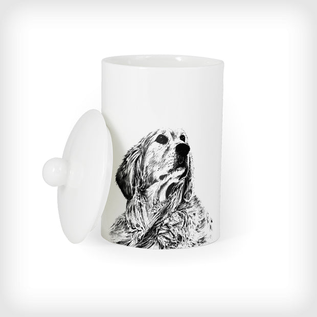 RETRIEVER - TREAT / STORAGE JAR (900ml/18cm HIGH) - doggily