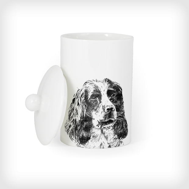 SPANIEL - TREAT / STORAGE JAR (900ml/18cm HIGH) - doggily
