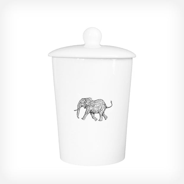 ELEPHANT - TREAT / STORAGE JAR (900ml/18cm HIGH) - doggily