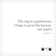 "THE DOG IS A GENTLEMAN..."" BOX-FRAMED PRINT - doggily"