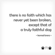 """THERE IS NO FAITH..."" BOX-FRAMED PRINT - doggily"