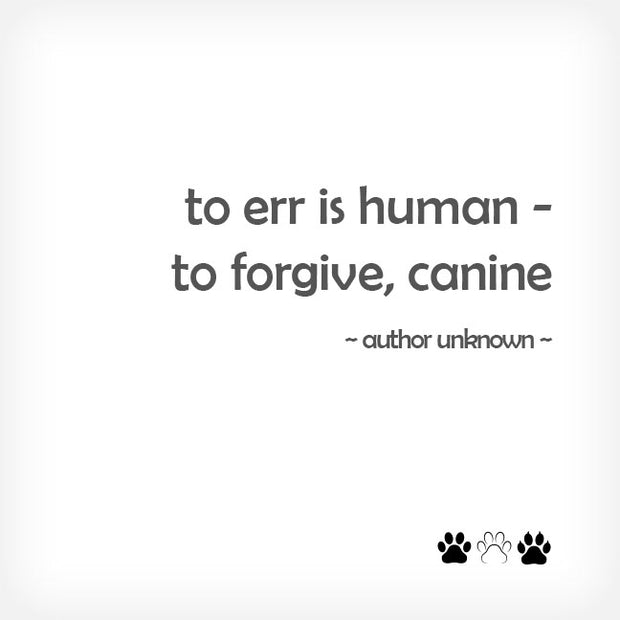"""TO ERR IS HUMAN..."" BOX-FRAMED PRINT - doggily"