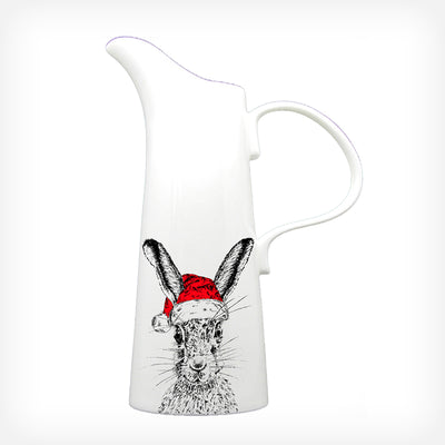 CHRISTMAS SASSY HARE - X LARGE JUG (30cm HIGH) - doggily