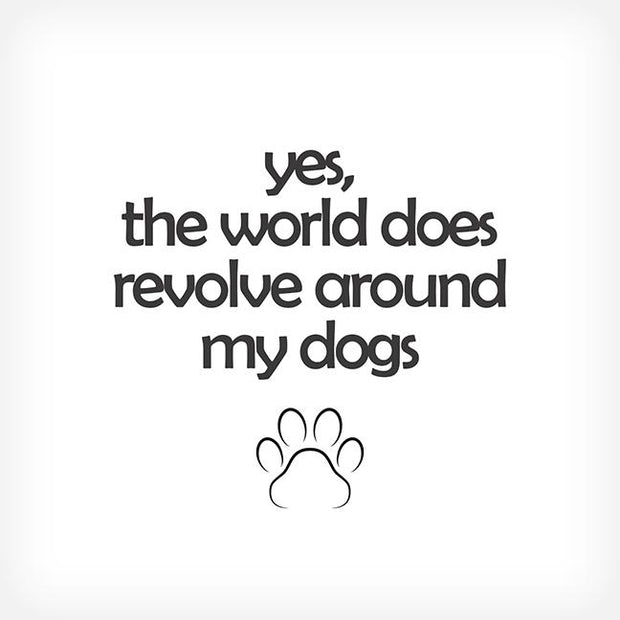 YES, MY WORLD.... BOX-FRAMED PRINT - doggily