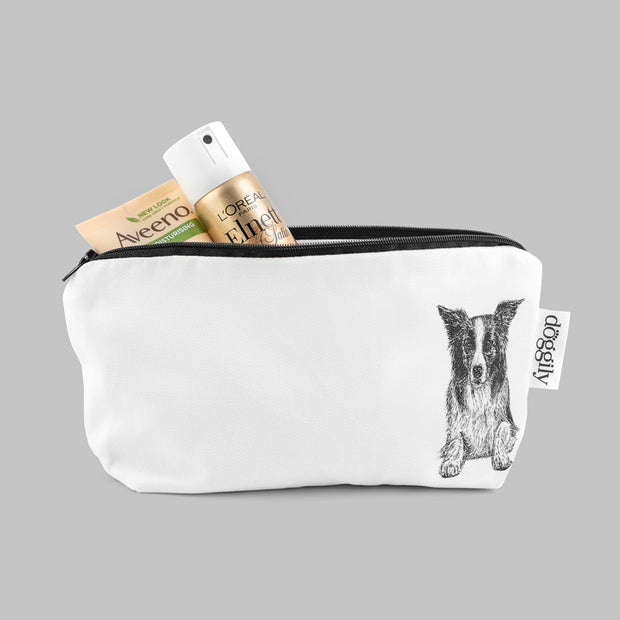 BORDER COLLIE - COSMETICS BAG / PENCIL CASE - doggily
