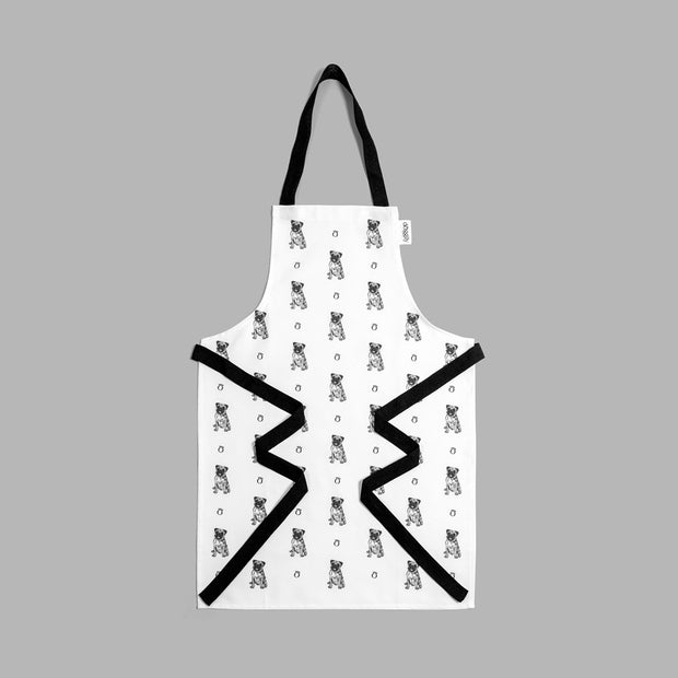 PUG - FULL BIB CHILD'S APRON - doggily