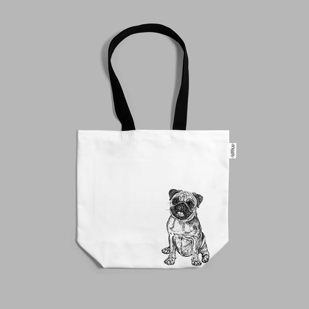 PUG - SHOPPING BAG - doggily