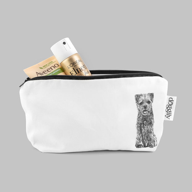BORDER TERRIER - COSMETIC BAG / PENCIL CASE - doggily