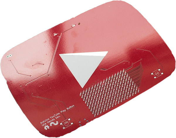 YouTube Electronic Play Button - Bare PCB