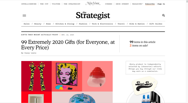 The Strategist - '99 Extremely 2020 Gifts (for Everyone, at Every Price)'