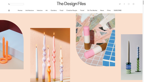 The Design Files - 'Eleven Candles That Bring The Razzle Dazzle To Your Dining Table'