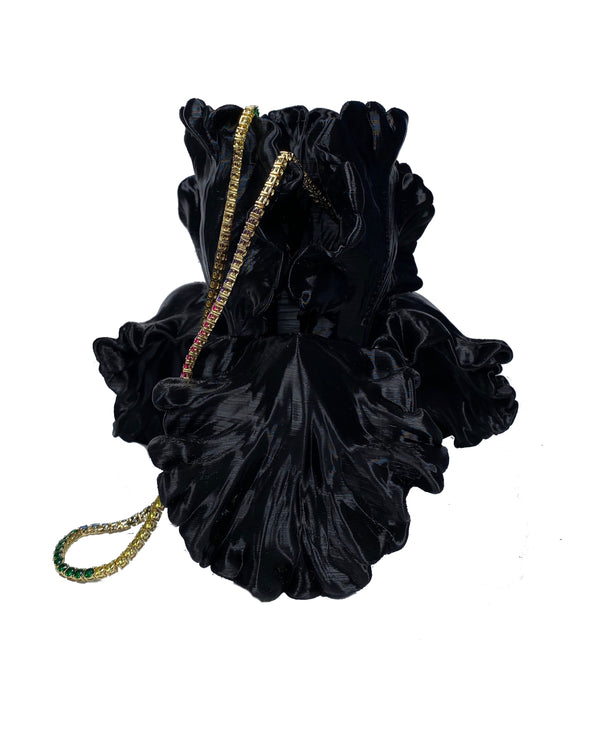 Black Flower Bag