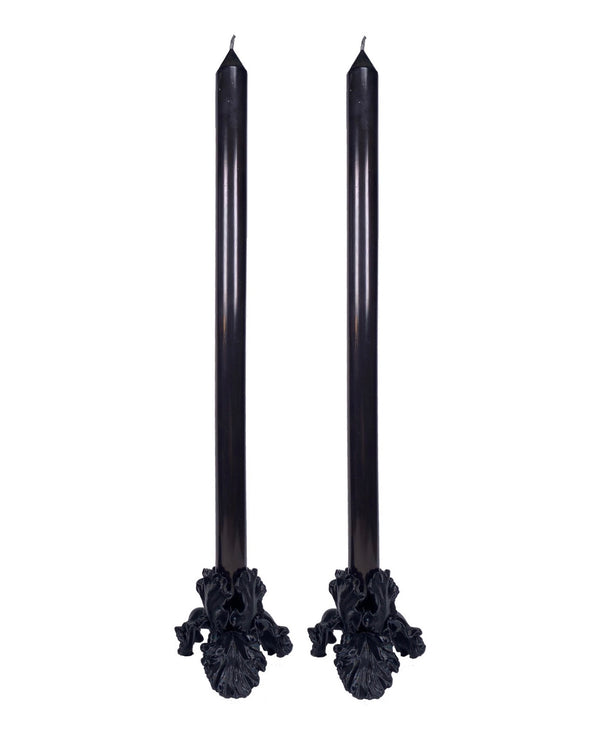 The Flower Candle Set in BLACK