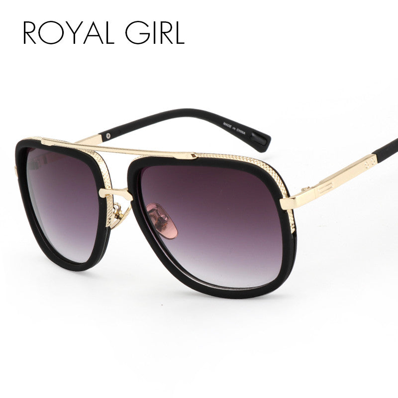 ROYAL GIRL Retro Men Sunglasses Square brand designer Glasses women ss117