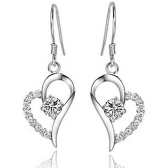 Adorable Crystal Heart Earrings
