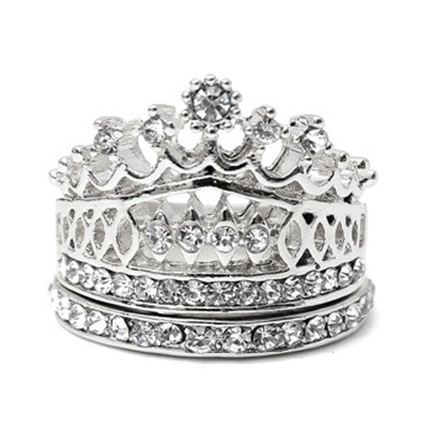 Imperial Crown Ring with a matching Band