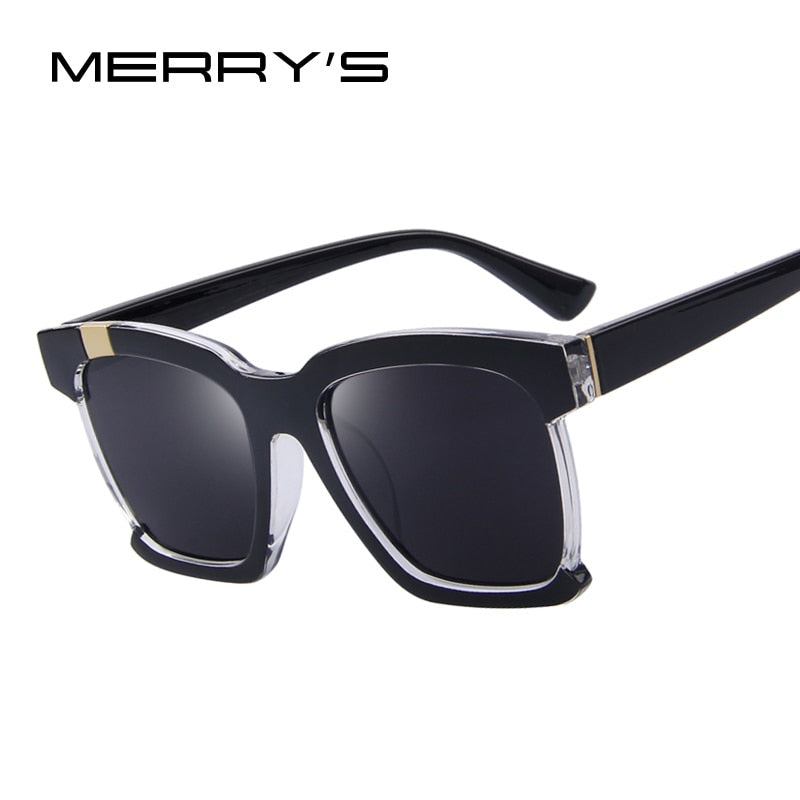 MERRY'S Fashion Women Sunglasses Classic Cat Eye Shades Men Luxury Brand Designer Sun glasses Semi-Rimlenss Frame UV400