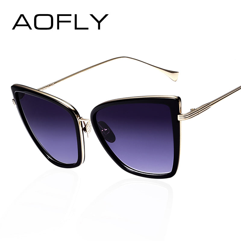 Women Sunglasses Cat  Mirror Glasses