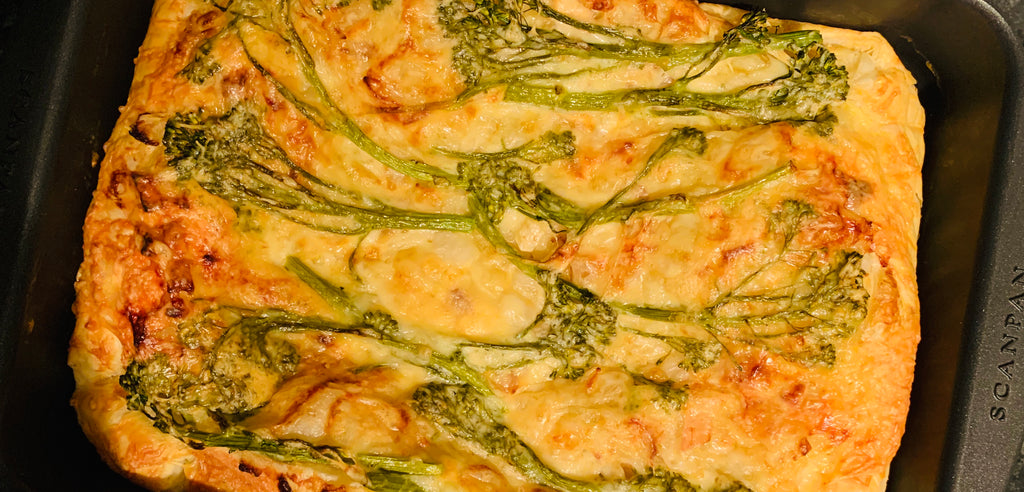 Broccoli, Cheese and Onion Tart