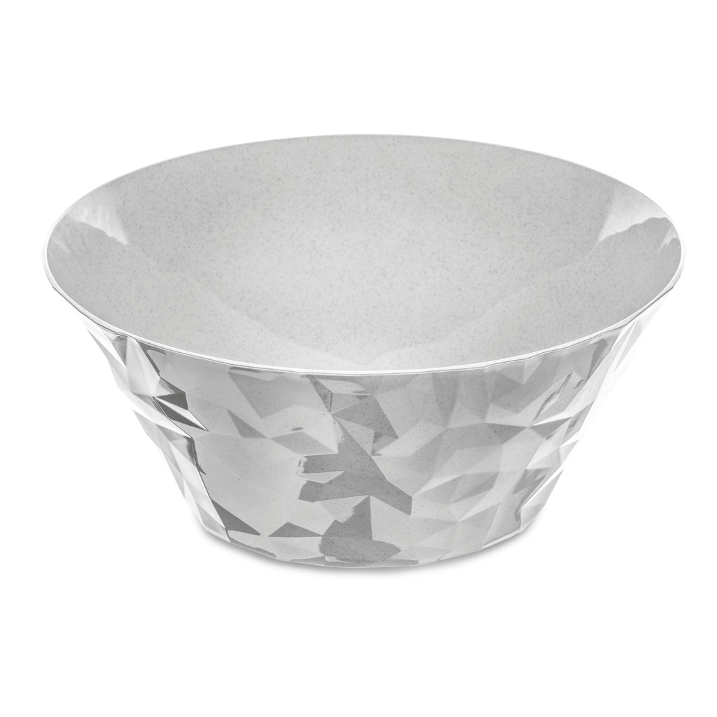 Koziol CLUB BOWL L Salad Serving Bowl Organic Grey 3.5l