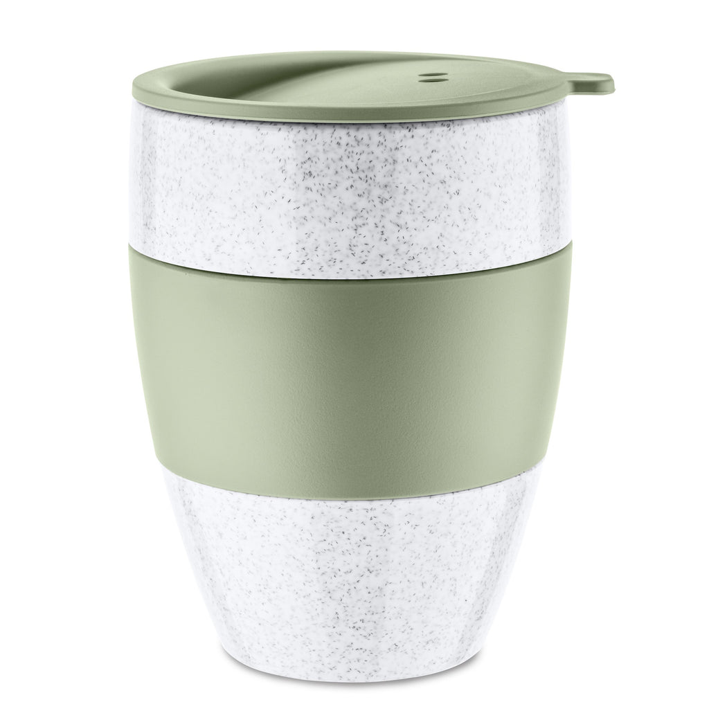Koziol AROMA TO GO 2.0 Insulated Cup w. lid Organic Green 400ml
