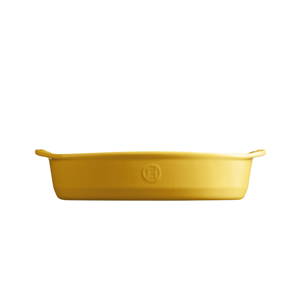 Emile Henry Small Oval Baking Dish Provence Yellow 27cm x 17.5cm