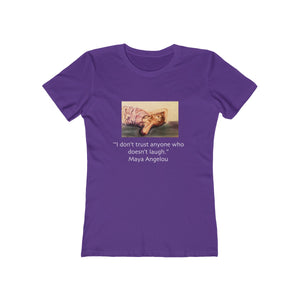 """Laughter"" - Women's The Boyfriend Tee"