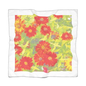 Pop-Art Flower Scarf