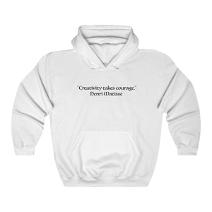 """Creativity Takes Courage"" - Unisex Heavy Blend™ Hooded Sweatshirt"