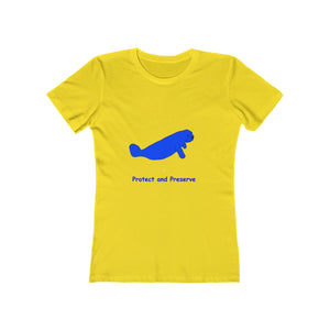 "Manatee ""Protect and Preserve"" - Women's The Boyfriend Tee"