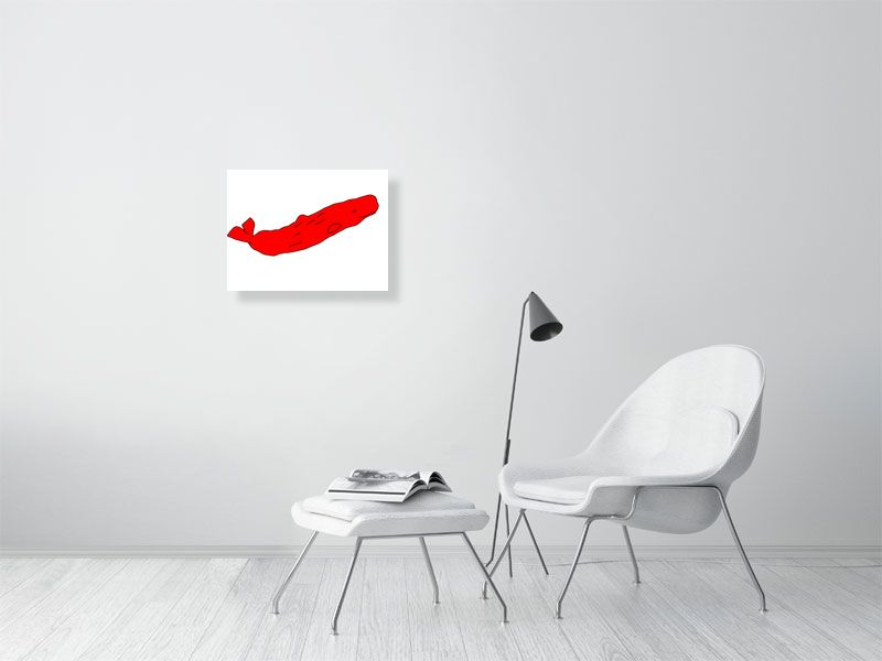 Red Whale - Giclee