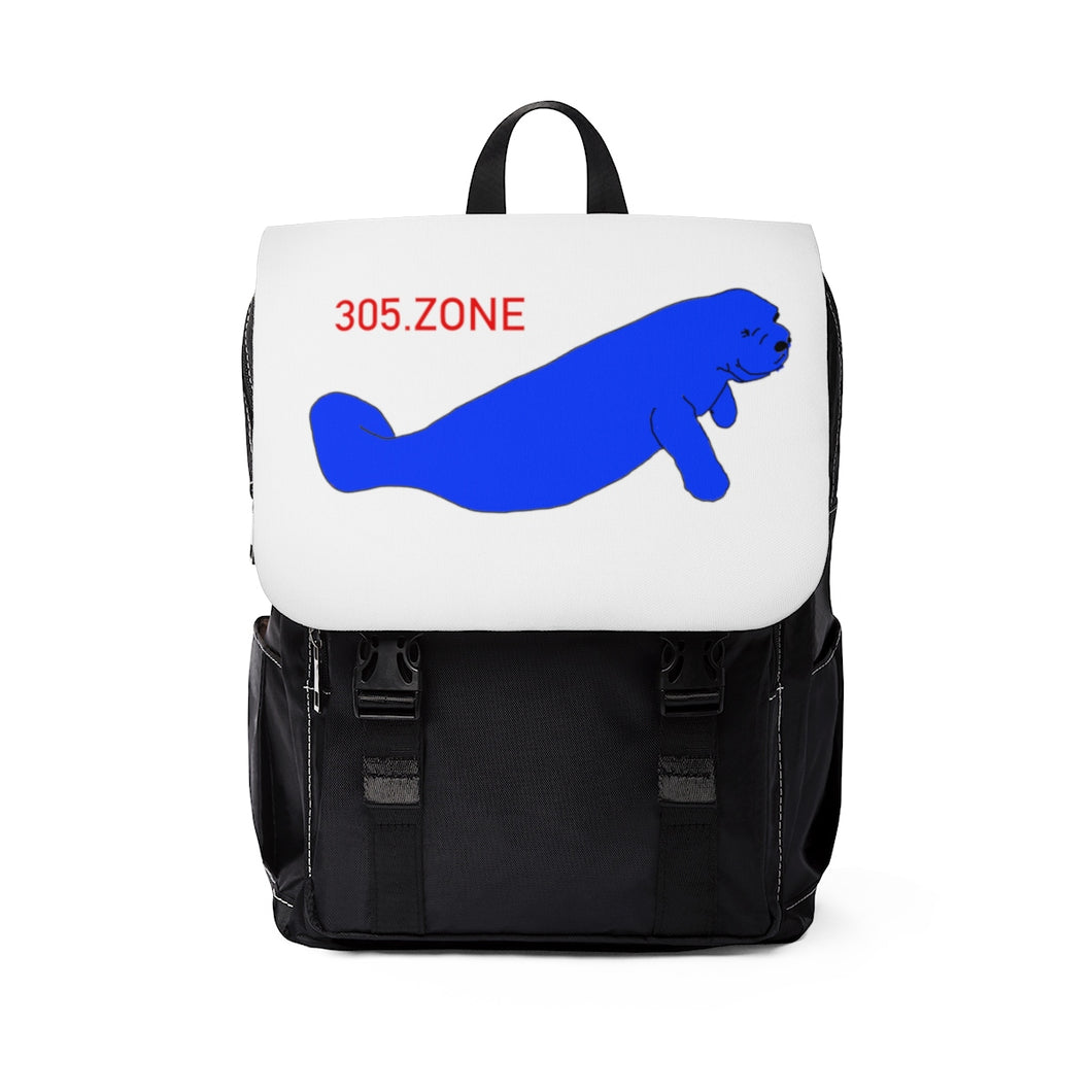 305.Zone Manatee - Unisex Casual Shoulder Backpack
